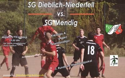 SG Dieblich-Niederfell gegen SG Mendig im Rheinlandpokal