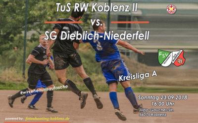 Spielankündigung TuS RW Koblenz II gegen SG Dieblich-Niederfell