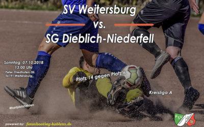 Am Sonntag 07.10.2018 geht es zum SV Weitersburg