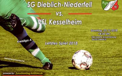 Letztes Spiel für die SG Dieblich-Niederfell in 2018