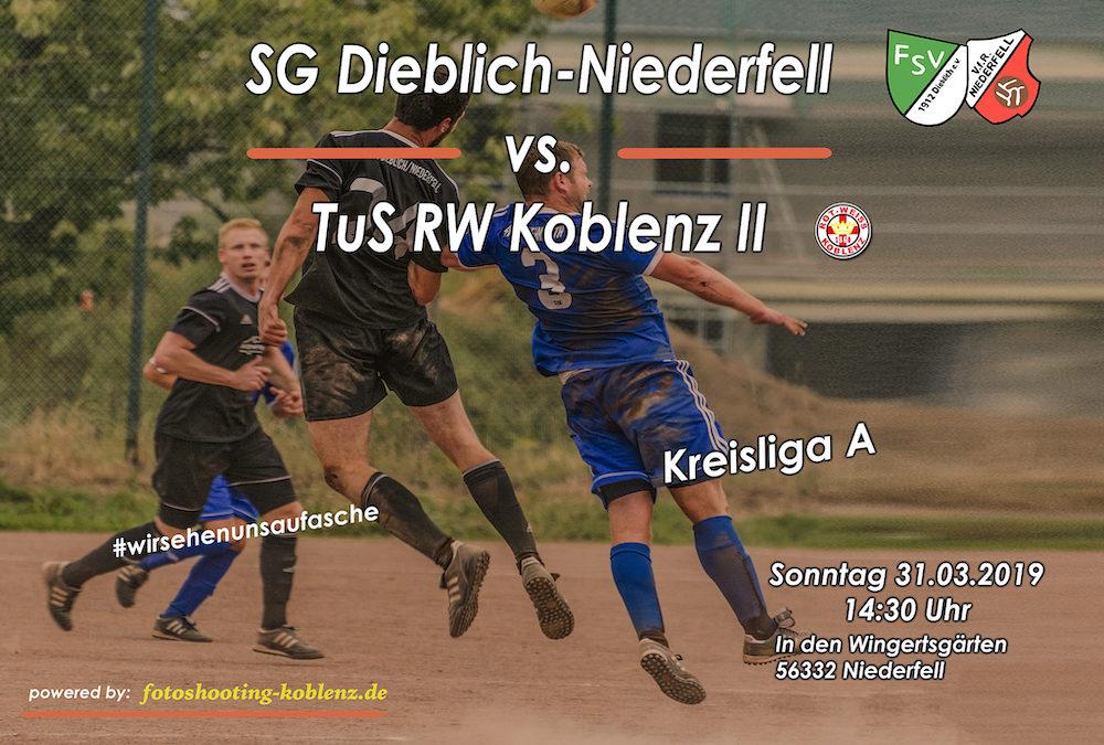 Heimspiel gegen TuS RW Koblenz II