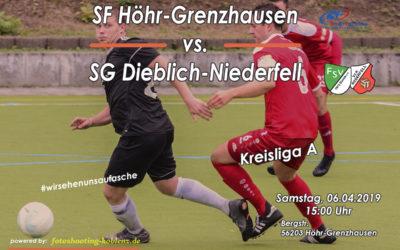 SG Dieblich-Niederfell spielt bei den SF Höhr-Grenzhausen